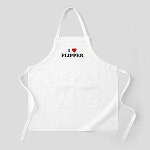 I Love FLIPPER BBQ Apron