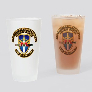 Army - DS - 2nd COSCOM Drinking Glass