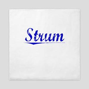 Strum, Blue, Aged Queen Duvet