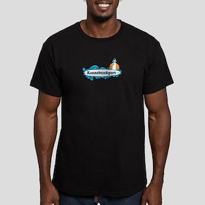 Kennebunkport ME - Surf Design. Men's Fitted T-Shi