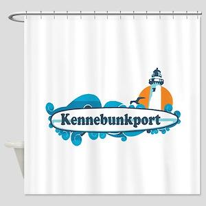 Kennebunkport ME - Surf Design. Shower Curtain