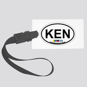 Kennebunk ME - Oval Design. Large Luggage Tag