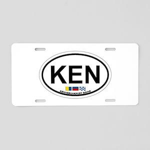 Kennebunk ME - Oval Design. Aluminum License Plate