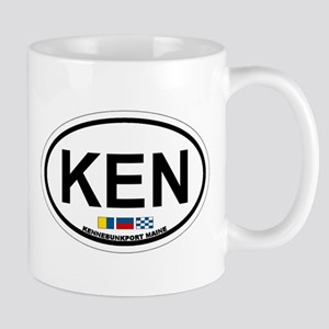 Kennebunk ME - Oval Design. Mug