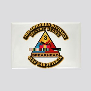 Army - DS - 3rd AR Div Rectangle Magnet