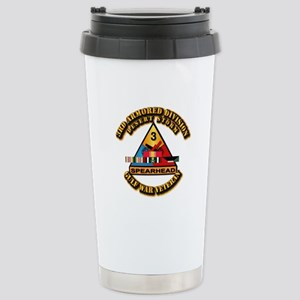 Army - DS - 3rd AR Div Stainless Steel Travel Mug
