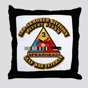Army - DS - 3rd AR Div Throw Pillow