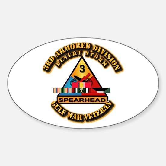 Army - DS - 3rd AR Div Sticker (Oval)