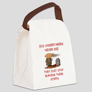 undertaker joke Canvas Lunch Bag