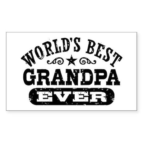 World's Best Grandpa Ever Sticker (Rectangle)