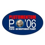 PLUTOMENTUM Oval Sticker
