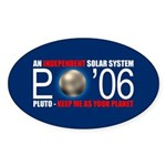 PLUTO 'O6 Oval Sticker