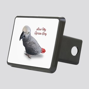 African Grey Rectangular Hitch Cover
