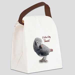 AfricanGreyTimneh Canvas Lunch Bag