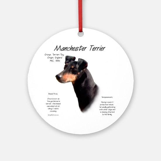 Manchester Terrier Round Ornament