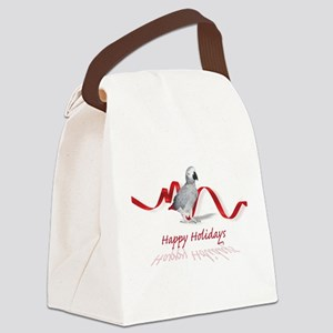 african grey parrot holiday Canvas Lunch Bag