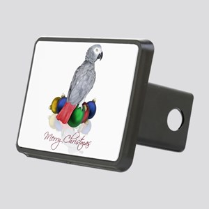 african grey christmas Rectangular Hitch Cover