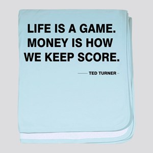 Life is a game baby blanket