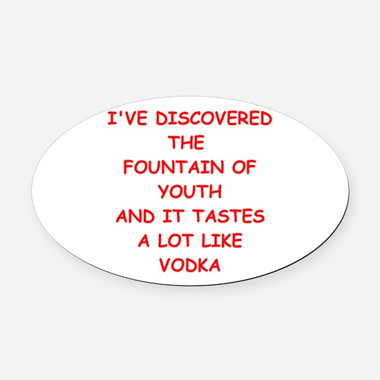 YOUTH1.png Oval Car Magnet