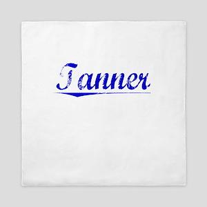 Tanner, Blue, Aged Queen Duvet
