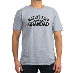 World's Best Grandad Men's Fitted T-Shirt (dark)