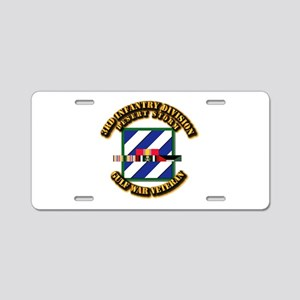 Army - DS - 3rd INF Div Aluminum License Plate