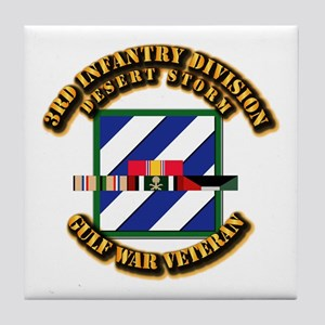 Army - DS - 3rd INF Div Tile Coaster