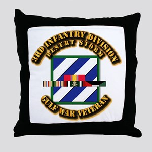 Army - DS - 3rd INF Div Throw Pillow
