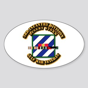 Army - DS - 3rd INF Div Sticker (Oval)