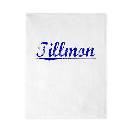Tillmon, Blue, Aged Twin Duvet
