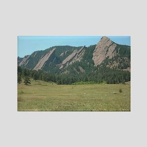 Flat Iron Mountains Rectangle Magnet