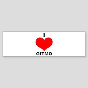 I Love Gitmo Bumper Sticker