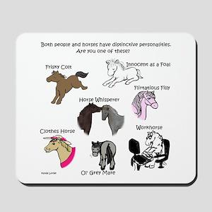 Horsey Personalities Mousepad