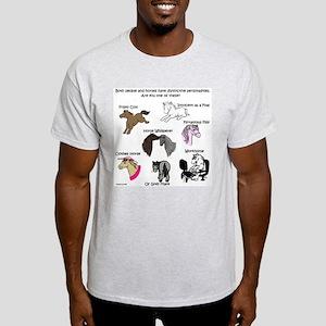 Horsey Personalities Ash Grey T-Shirt