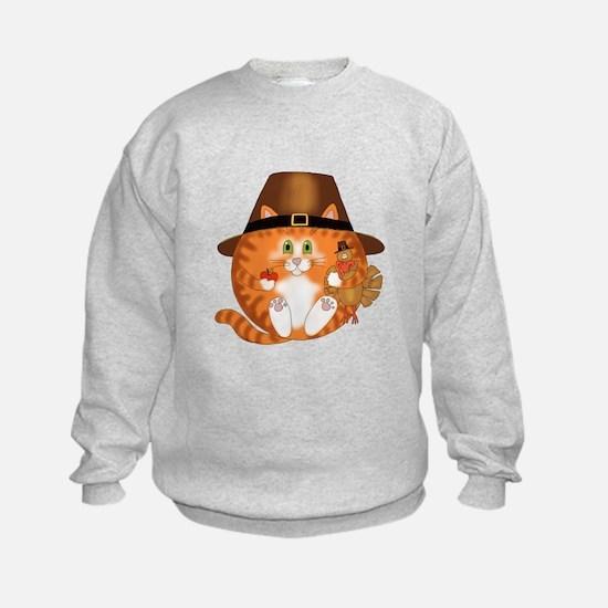 Bauble Cat Thanksgiving Sweatshirt