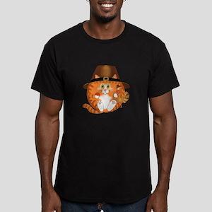 Bauble Cat Thanksgiving Men's Fitted T-Shirt (dark