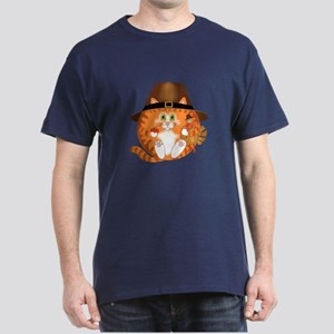 Bauble Cat Thanksgiving Dark T-Shirt