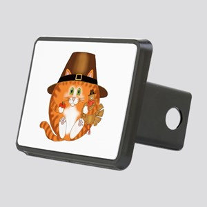 Bauble Cat Thanksgiving Rectangular Hitch Cover