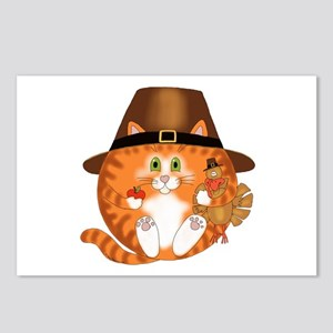 Bauble Cat Thanksgiving Postcards (Package of 8)
