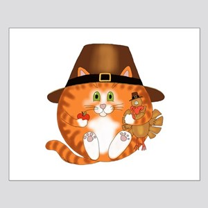 Bauble Cat Thanksgiving Small Poster