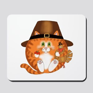 Bauble Cat Thanksgiving Mousepad