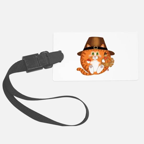 Bauble Cat Thanksgiving Luggage Tag