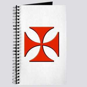 Red Maltese Cross Journal