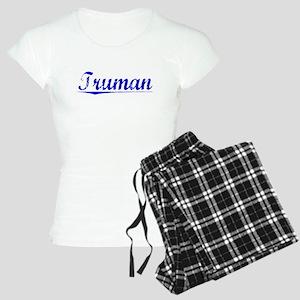 Truman, Blue, Aged Women's Light Pajamas