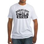 World's Best Uncle Ever Fitted T-Shirt