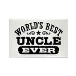 World's Best Uncle Ever Rectangle Magnet