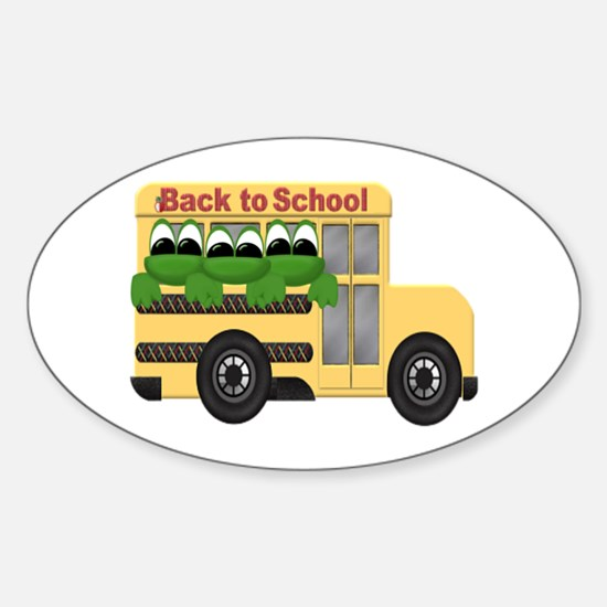 BACK TO SCHOOL Oval Decal