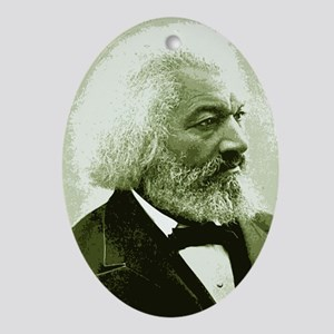 "Frederick Douglass ""Agitate!"" Oval Ornament"