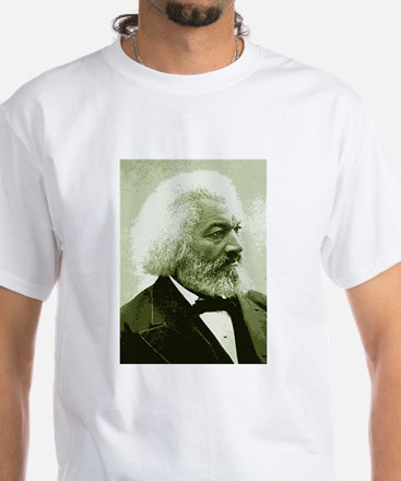 "Frederick Douglass ""Agitate!"" White T-Shirt"