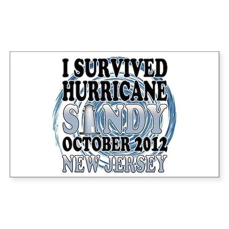 Hurricane Sandy New Jersey Sticker (Rectangle)